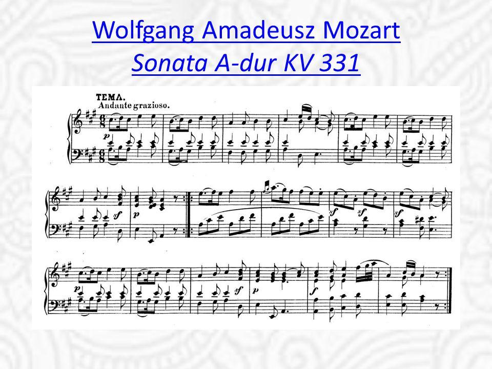 Wolfgang Amadeusz Mozart Sonata A-dur KV 331