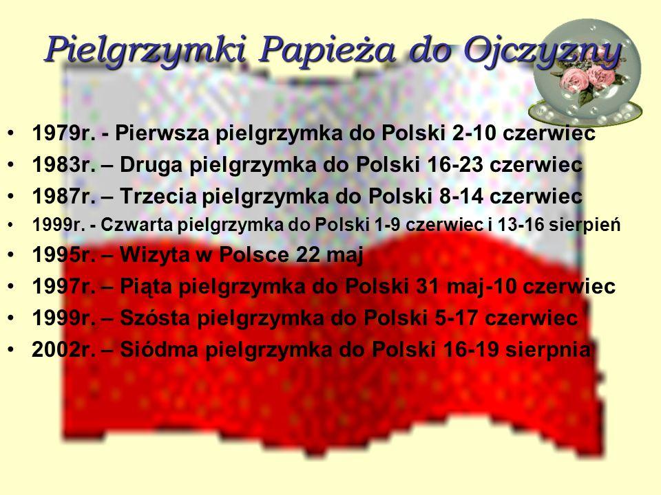 Pielgrzymki Papieża do Ojczyzny 1979r.- Pierwsza pielgrzymka do Polski 2-10 czerwiec 1983r.