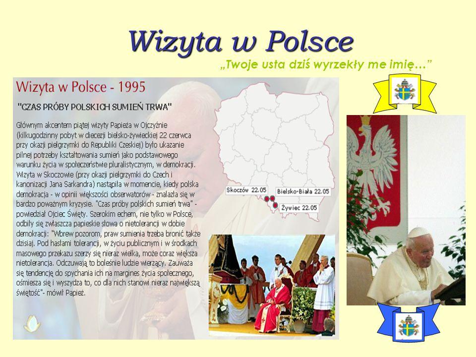 """Czwarta pielgrzymka do Polski """"O Panie to Ty na mnie spojrzałeś…"""""""