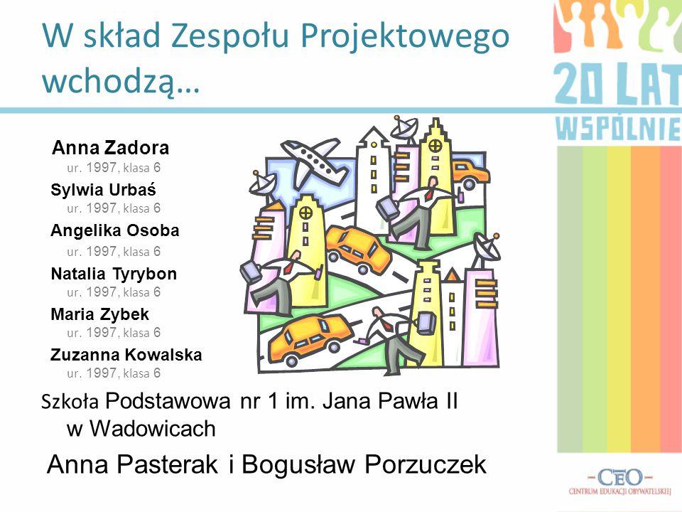 Anna Zadora ur. 1997, klasa 6 Sylwia Urbaś ur. 1997, klasa 6 Angelika Osoba ur.