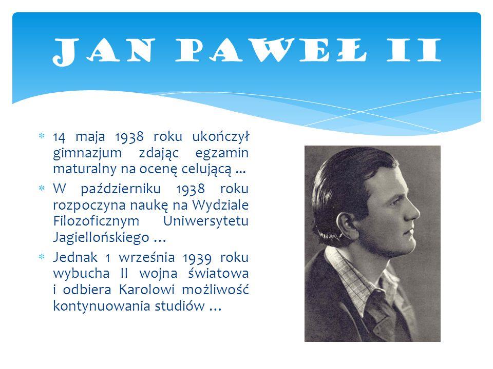  14 maja 1938 roku ukończył gimnazjum zdając egzamin maturalny na ocenę celującą...  W październiku 1938 roku rozpoczyna naukę na Wydziale Filozofic