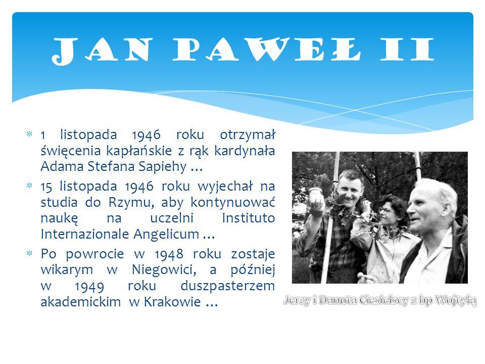 1 listopada 1946 roku otrzymał święcenia kapłańskie z rąk kardynała Adama Stefana Sapiehy …  15 listopada 1946 roku wyjechał na studia do Rzymu, ab