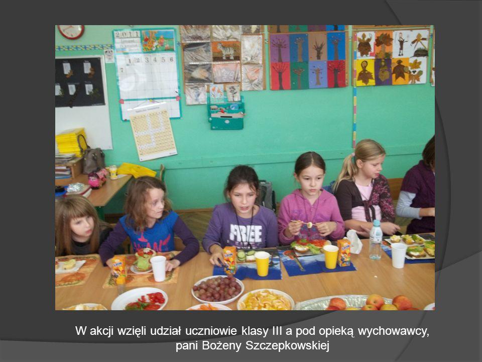 W akcji wzięli udział uczniowie klasy III a pod opieką wychowawcy, pani Bożeny Szczepkowskiej