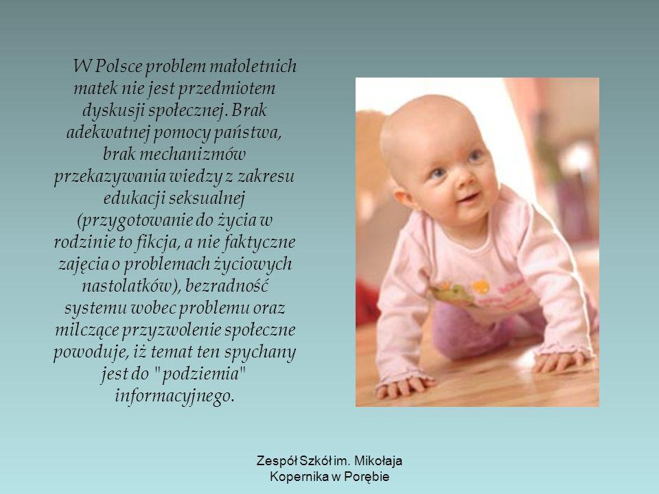 W Polsce problem małoletnich matek nie jest przedmiotem dyskusji społecznej. Brak adekwatnej pomocy państwa, brak mechanizmów przekazywania wiedzy z z