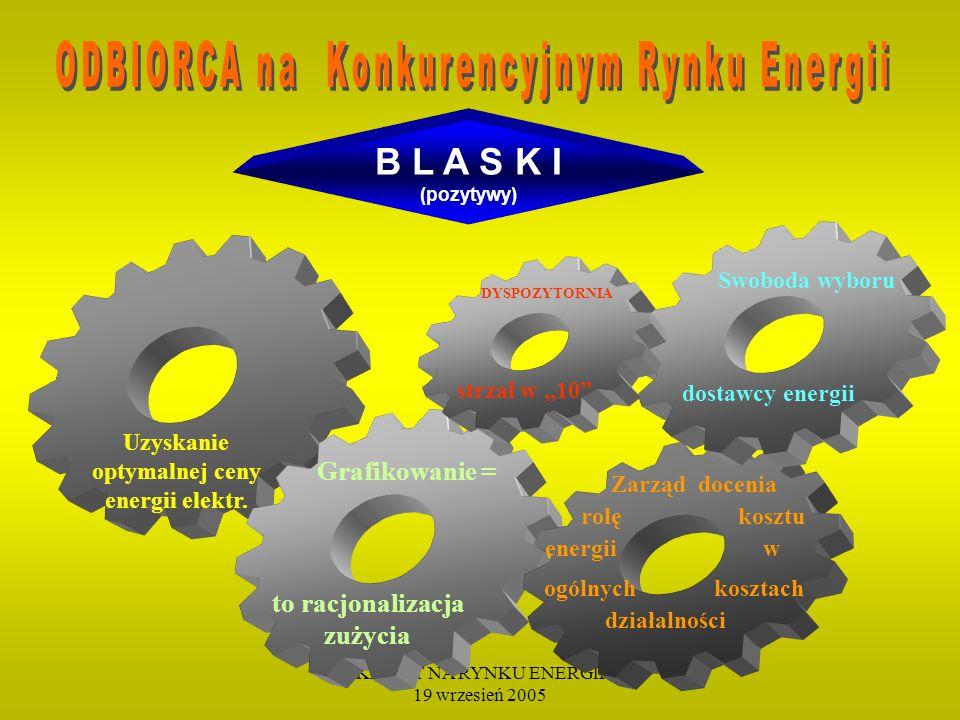 KLIENT NA RYNKU ENERGII 19 wrzesień 2005
