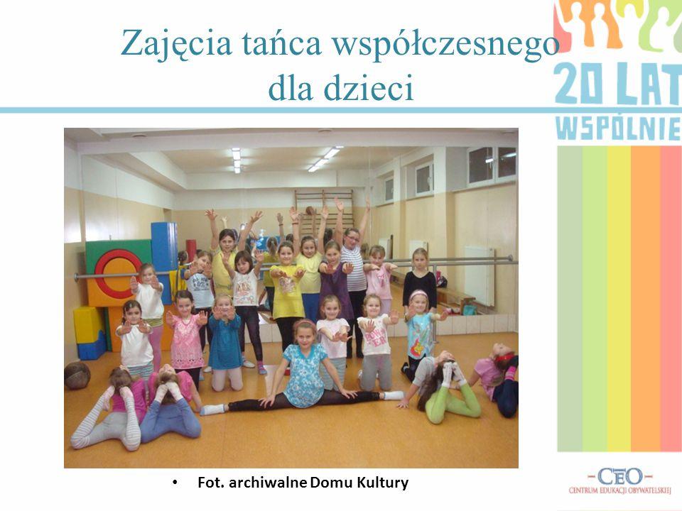 Zajęcia tańca współczesnego dla dzieci Fot. archiwalne Domu Kultury