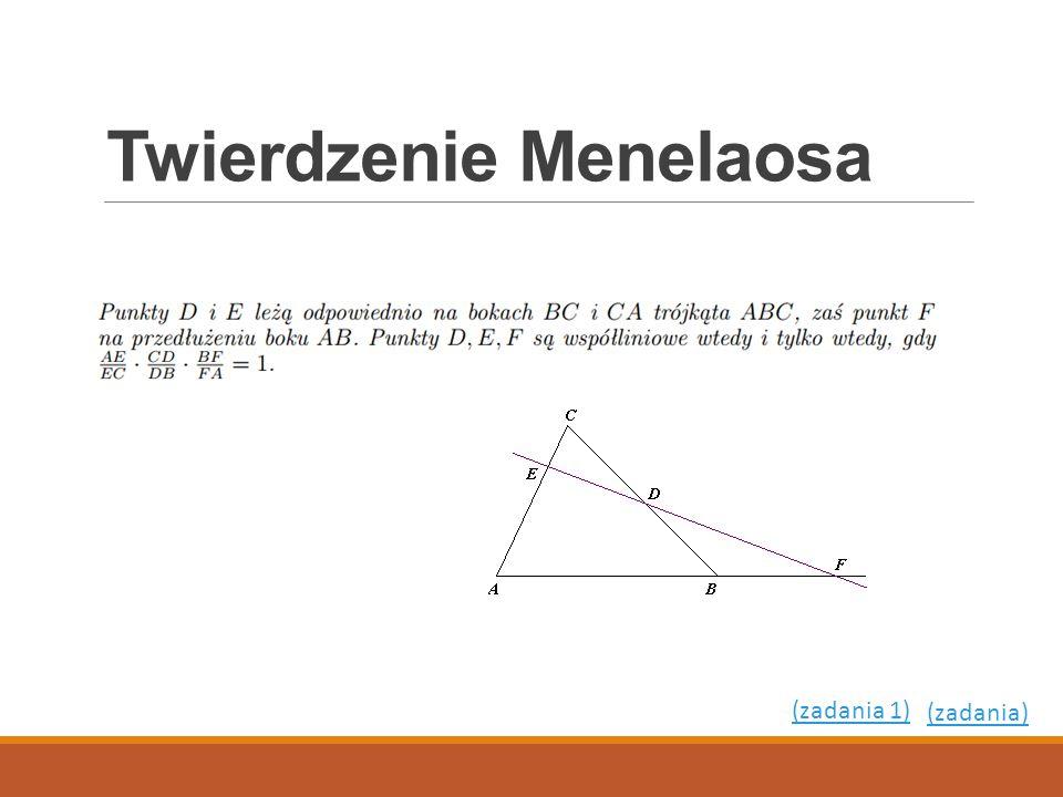 Twierdzenie Menelaosa (zadania) (zadania 1)