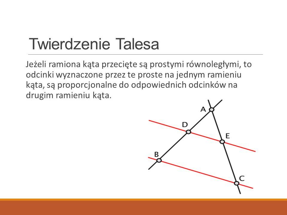 Twierdzenie Cevy Jeżeli trzy proste AD, BE i CF przechodzące przez wierzchołki trójkąta ABC przecinają się w jednym punkcie lub są równoległe to,: (zadania) Twierdzenie odwrotne jest prawdziwe (dowód)
