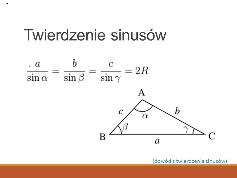 Twierdzenie cosinusów.. (dowód z twierdzenia sinusów).
