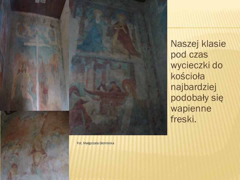 Naszej klasie pod czas wycieczki do kościoła najbardziej podobały się wapienne freski. Fot. Małgorzata Głombicka