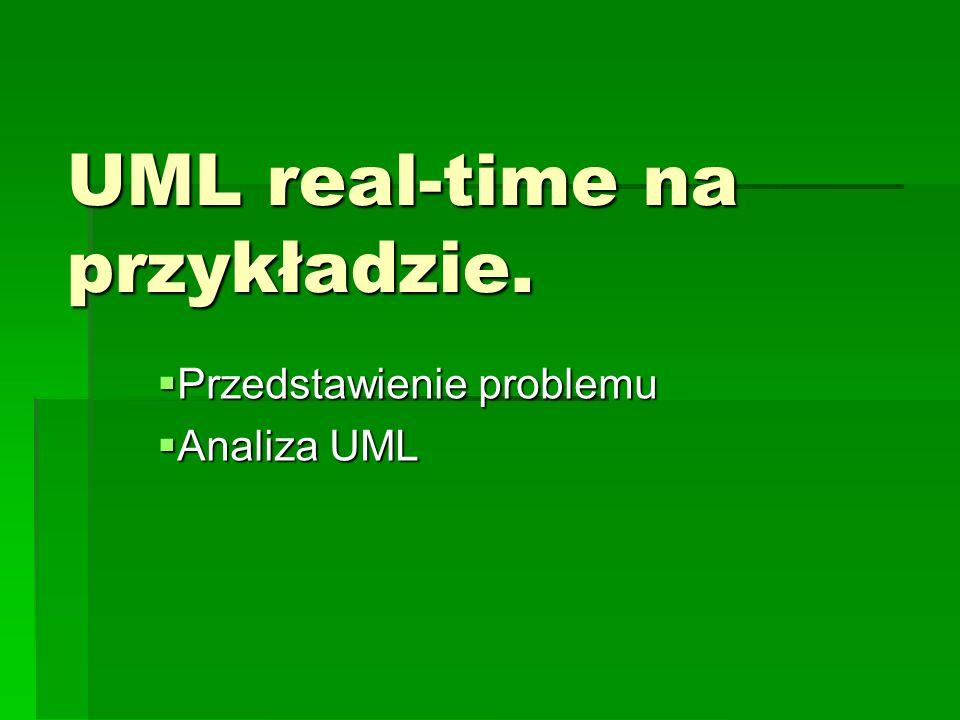 UML real-time na przykładzie.  Przedstawienie problemu  Analiza UML
