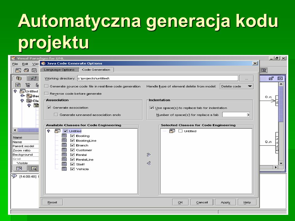 Automatyczna generacja kodu projektu