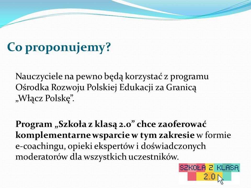 """Co proponujemy? Nauczyciele na pewno będą korzystać z programu Ośrodka Rozwoju Polskiej Edukacji za Granicą """"Włącz Polskę"""". Program """"Szkoła z klasą 2."""