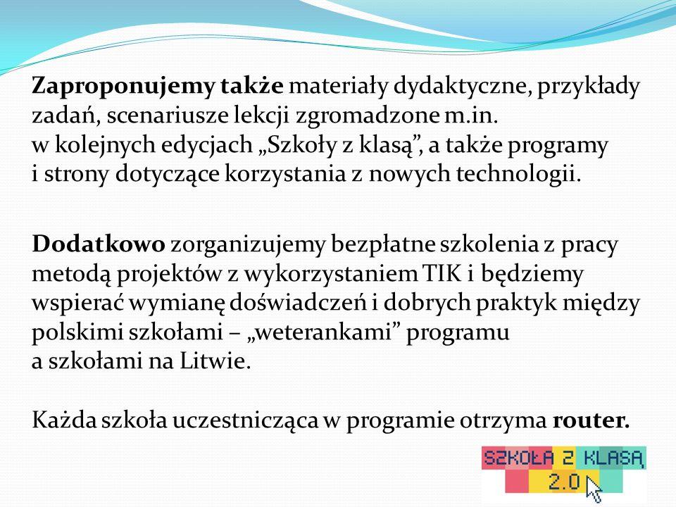 Zaproponujemy także materiały dydaktyczne, przykłady zadań, scenariusze lekcji zgromadzone m.in.