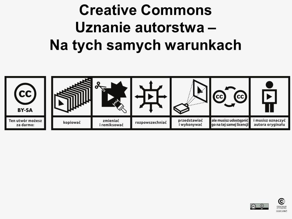 Creative Commons Uznanie autorstwa – Na tych samych warunkach