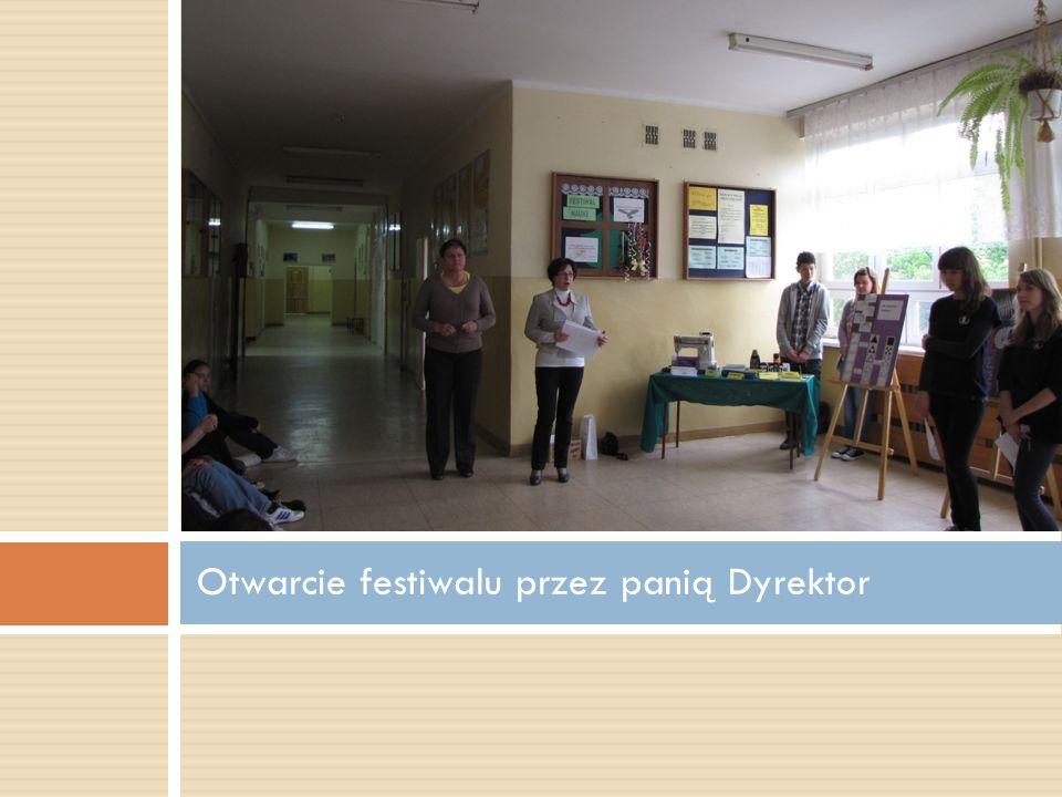 Otwarcie festiwalu przez panią Dyrektor