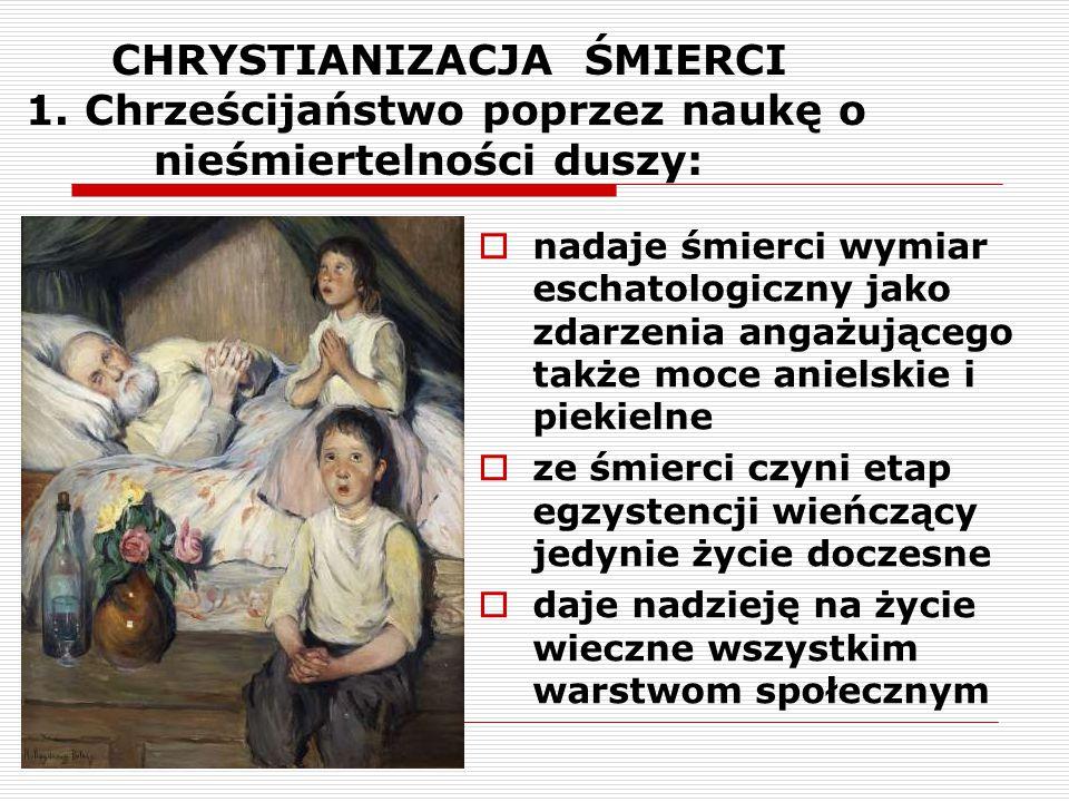 CHRYSTIANIZACJA ŚMIERCI 2.Chrześcijaństwo poprzez naukę św.