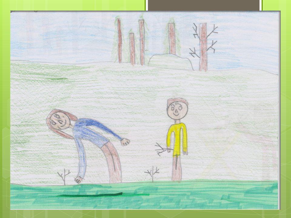 """Poradnik """"jak zostać przyjacielem lasu 3.Dbanie o sadzonki Co jakiś czas podlewaj sadzonki, wyrywaj chwasty i oznacz teren tabliczką"""