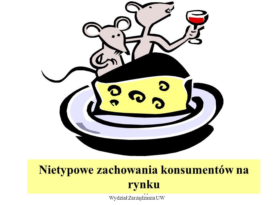 dr Zofia Skrzypczak Wydział Zarządzania UW 21 Nietypowe zachowania konsumentów na rynku