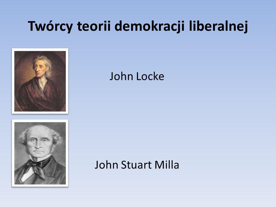 Twórcy teorii demokracji liberalnej John Locke John Stuart Milla