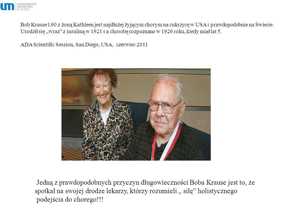 """Bob Krause l.90 z żoną Kathleen jest najdłużej żyjącym chorym na cukrzycę w USA i prawdopodobnie na Świecie. Urodził się """"wraz"""" z insuliną w 1921 r a"""