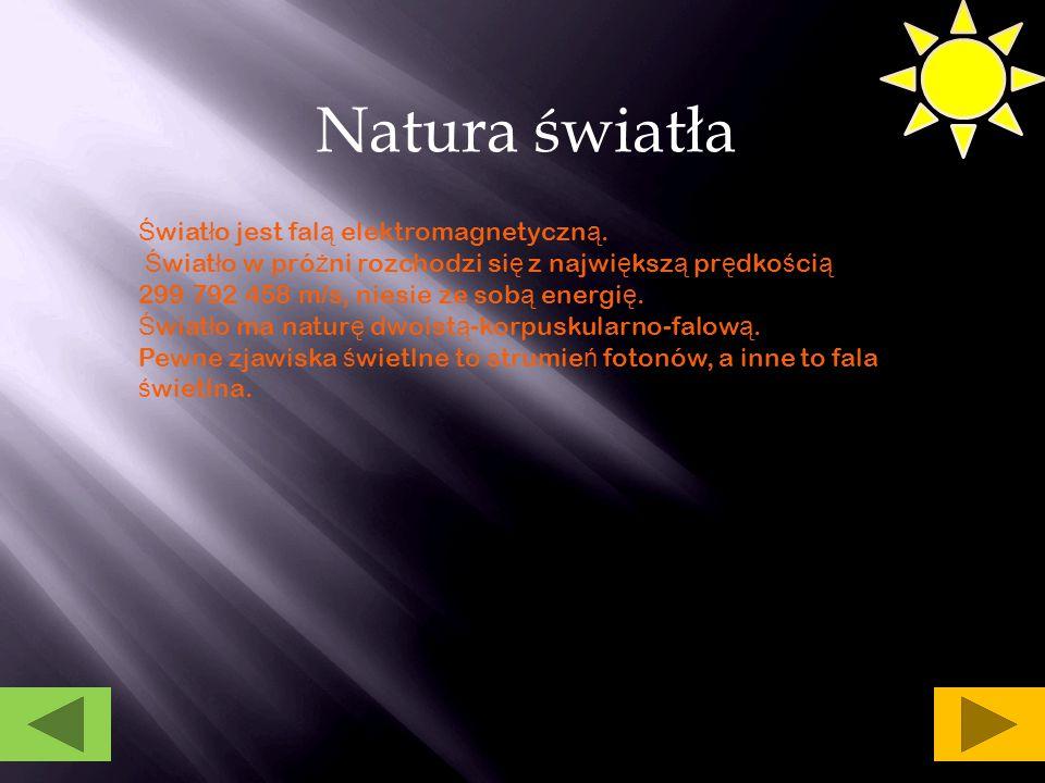 Zjawisko optyczne Zjawisko optyczne- to ka ż de zjawisko dotycz ą ce oddzia ł ywania ś wiat ł a z materi ą.