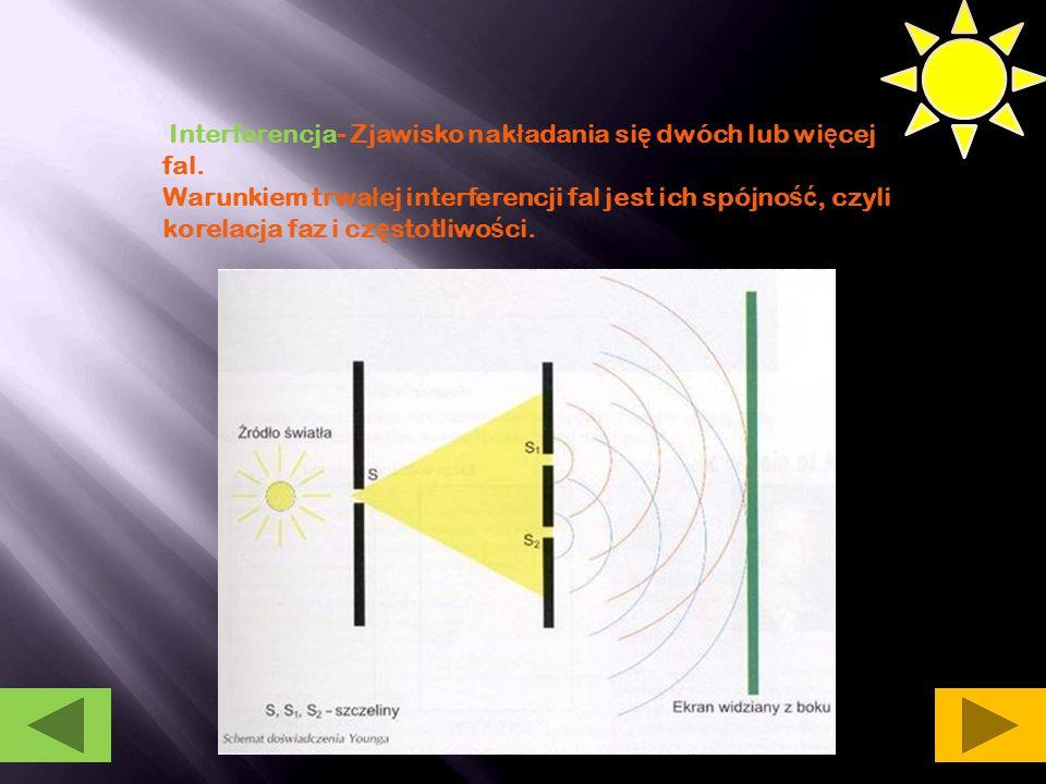 Iryzacja Zjawisko optyczne, w którym dzi ę ki interferencji ś wiat ł a bia ł ego odbitego od prze ź roczystych lub pó ł prze ź roczystych powierzchni i mo ż emy zaobserwowa ć kolor t ę czy.
