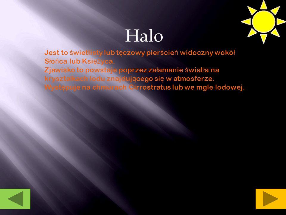 Halo S ł o ń ca Halo Ksi ęż yca