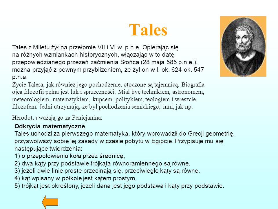 Euklides EUKLIDES (około 300 r. p.n.e.) Nie jest znana dokładna data jego urodzin, ani śmierci. Przypuszcza się, że okres działalności Euklidesa przyp