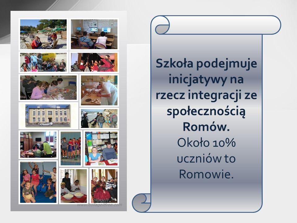Szkoła podejmuje inicjatywy na rzecz integracji ze społecznością Romów. Około 10% uczniów to Romowie.