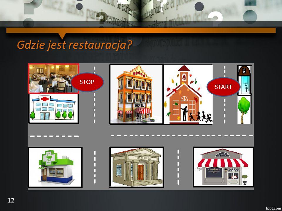 Gdzie jest restauracja? START STOP 12