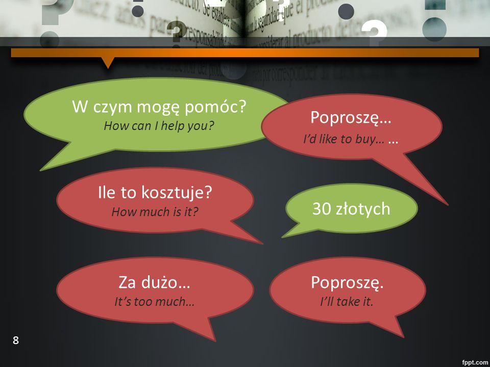 Make up your own dialogues: Ciastko Znaczek Buty Pocztówka 4 zł 7 zł 100 zł 50 zł 9