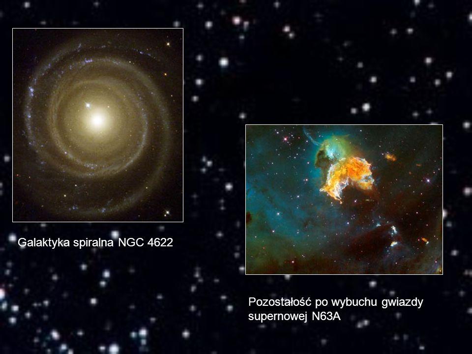 Galaktyka spiralna NGC 4622 Pozostałość po wybuchu gwiazdy supernowej N63A
