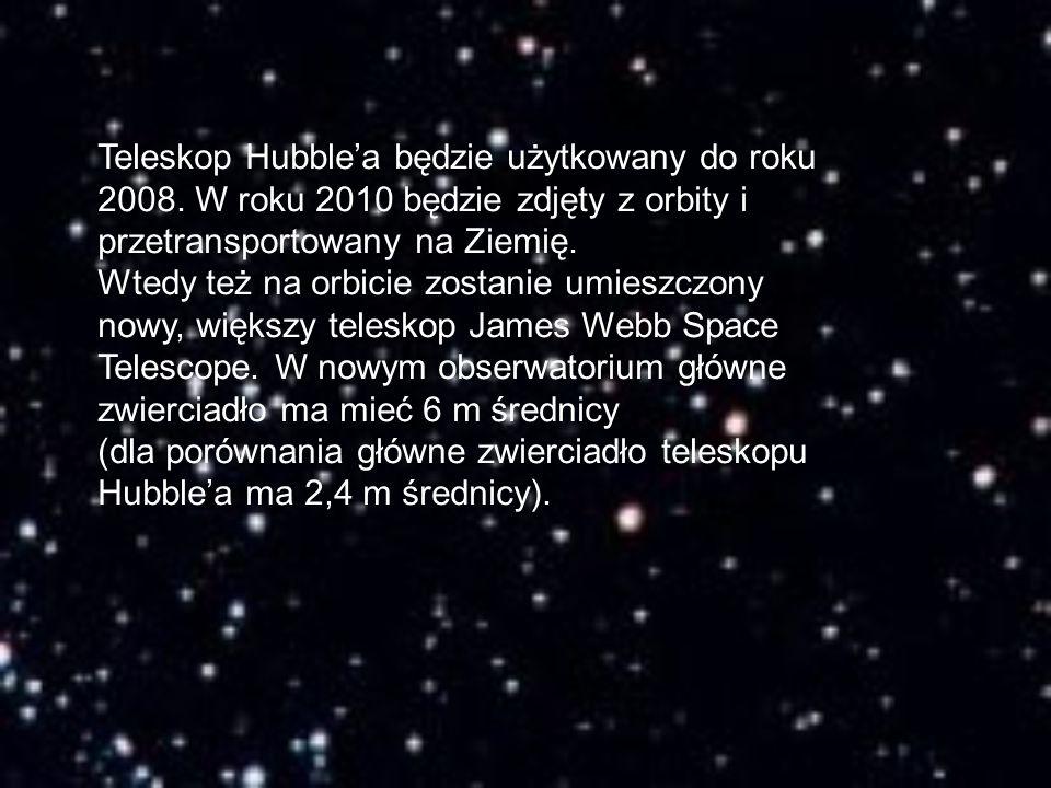 Teleskop Hubble'a będzie użytkowany do roku 2008. W roku 2010 będzie zdjęty z orbity i przetransportowany na Ziemię. Wtedy też na orbicie zostanie umi