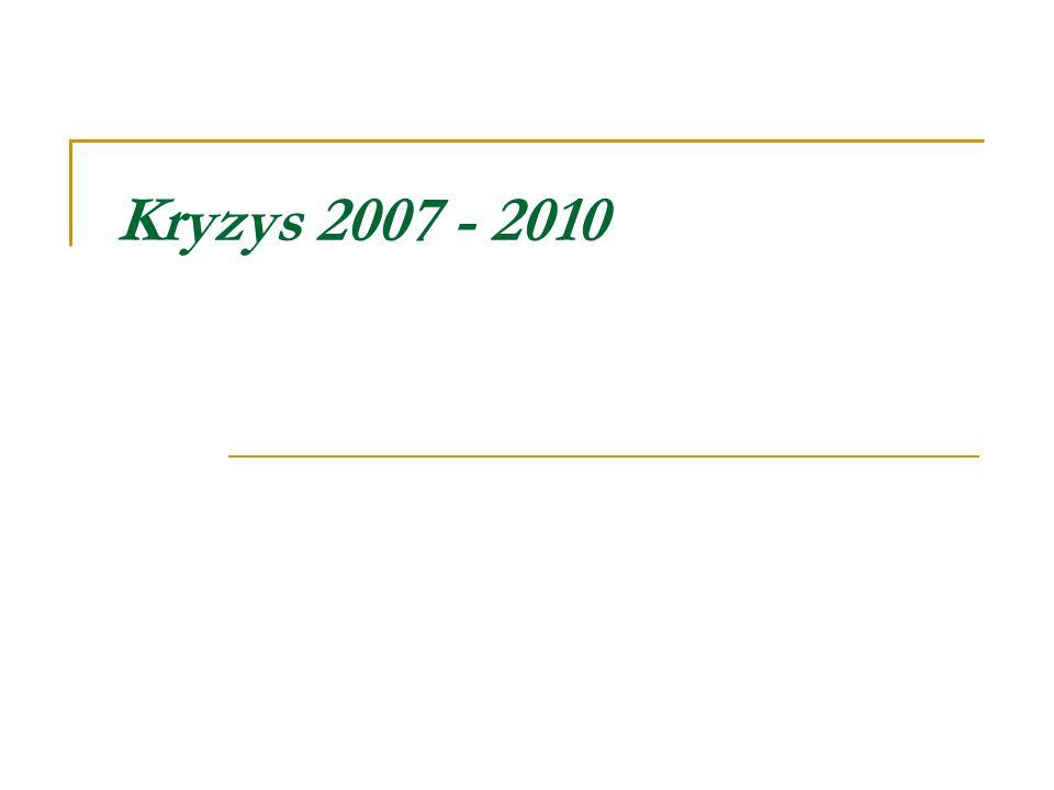 Kryzys 2007 - 2010