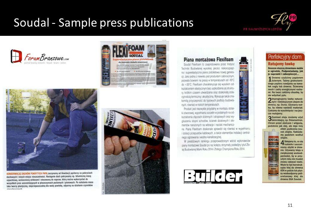 Soudal - Sample press publications 11 PR NAJWYŻSZYCH LOTÓW