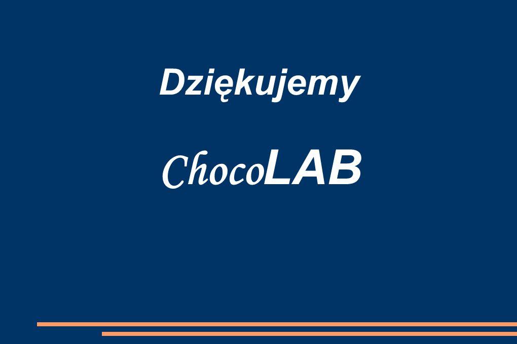 Dziękujemy Choco LAB