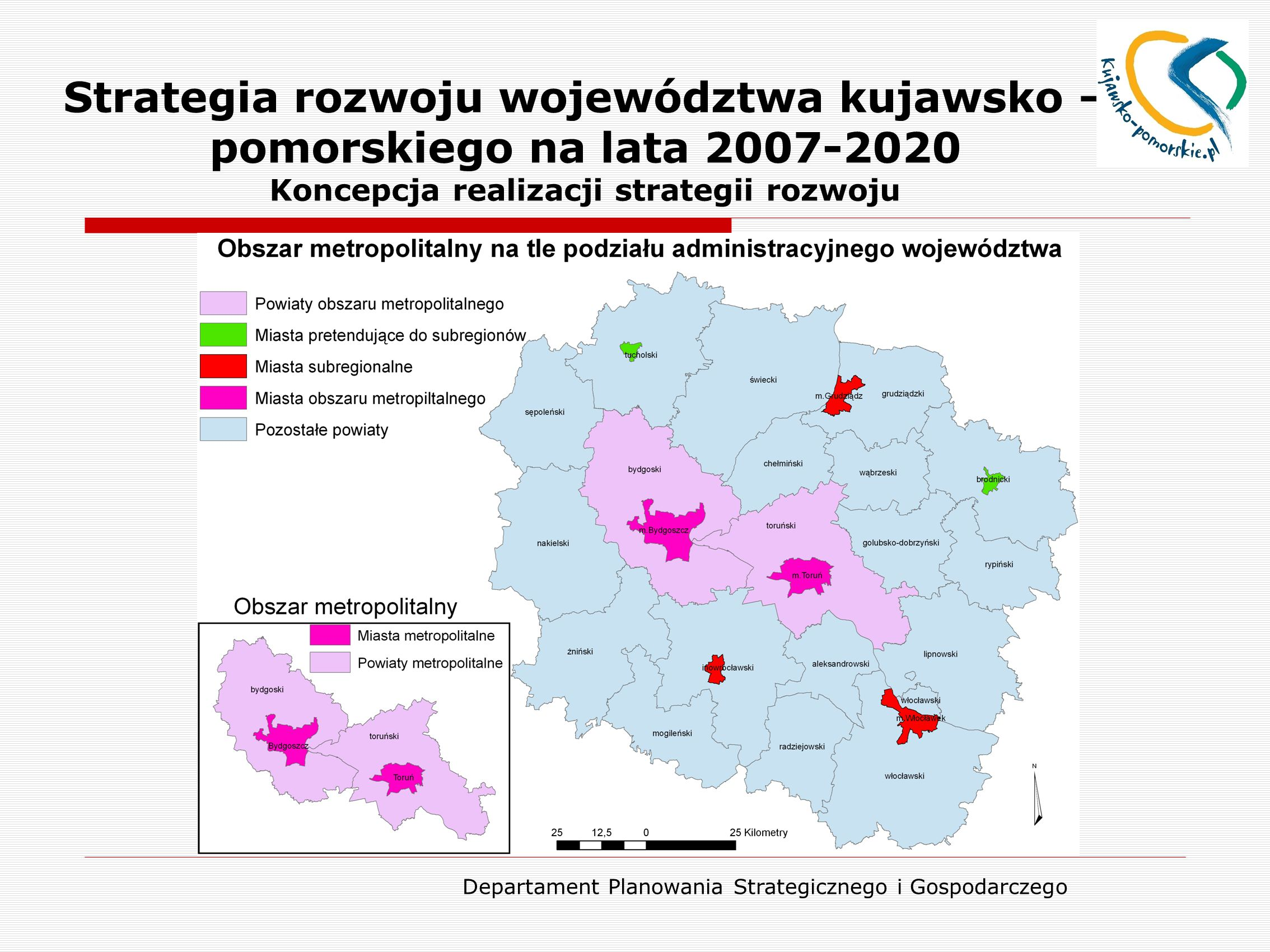 Departament Planowania Strategicznego i Gospodarczego Strategia rozwoju województwa kujawsko – pomorskiego na lata 2007-2020 Koncepcja realizacji stra