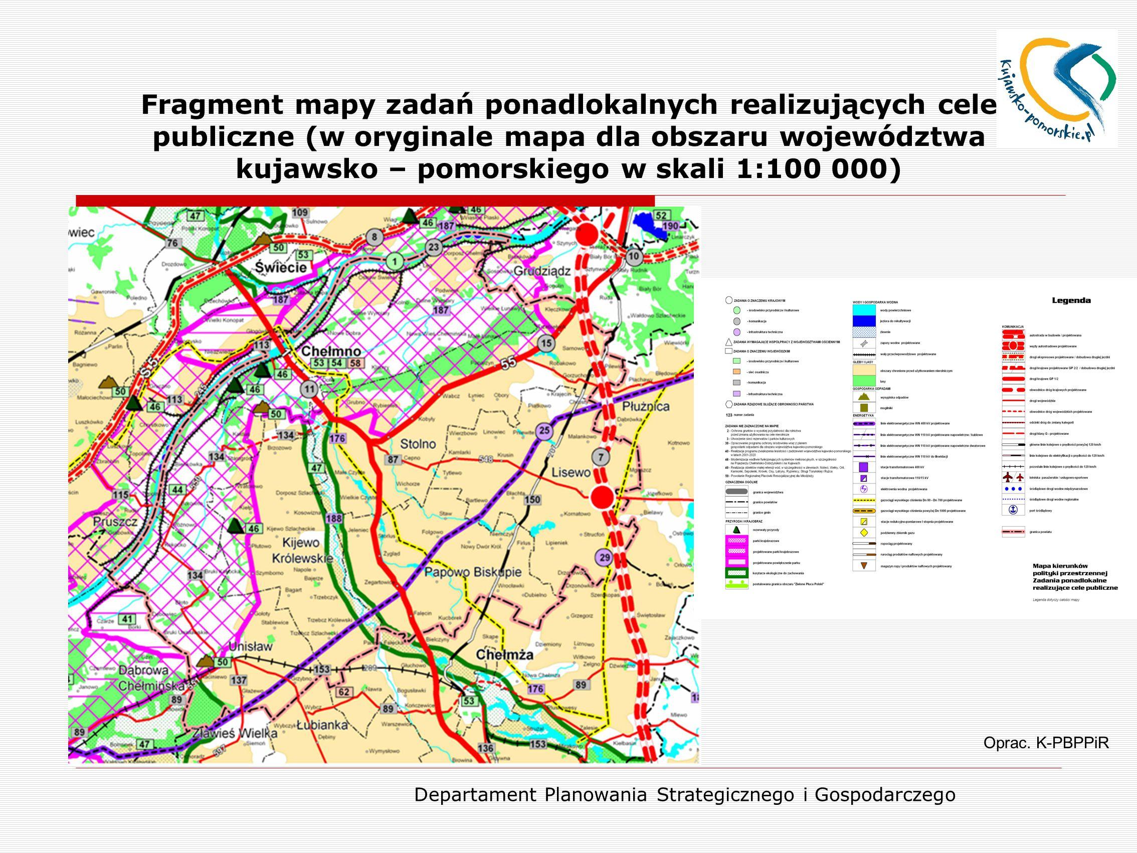 Departament Planowania Strategicznego i Gospodarczego Miasto Chełmno jako siedziba powiatu Oprac.