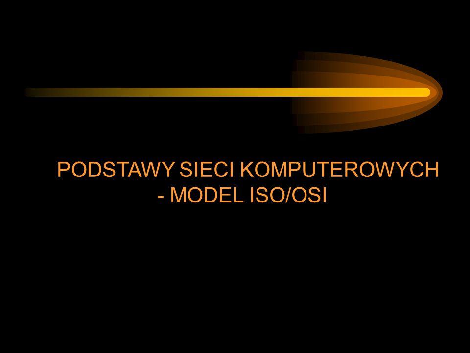 PODSTAWY SIECI KOMPUTEROWYCH - MODEL ISO/OSI