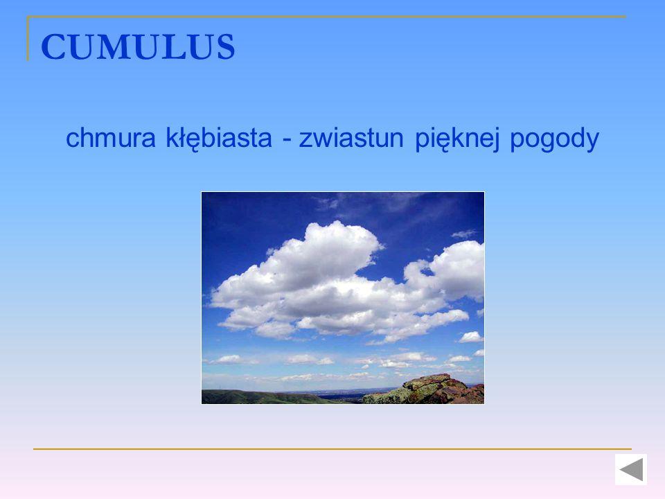 CUMULUS chmura kłębiasta - zwiastun pięknej pogody