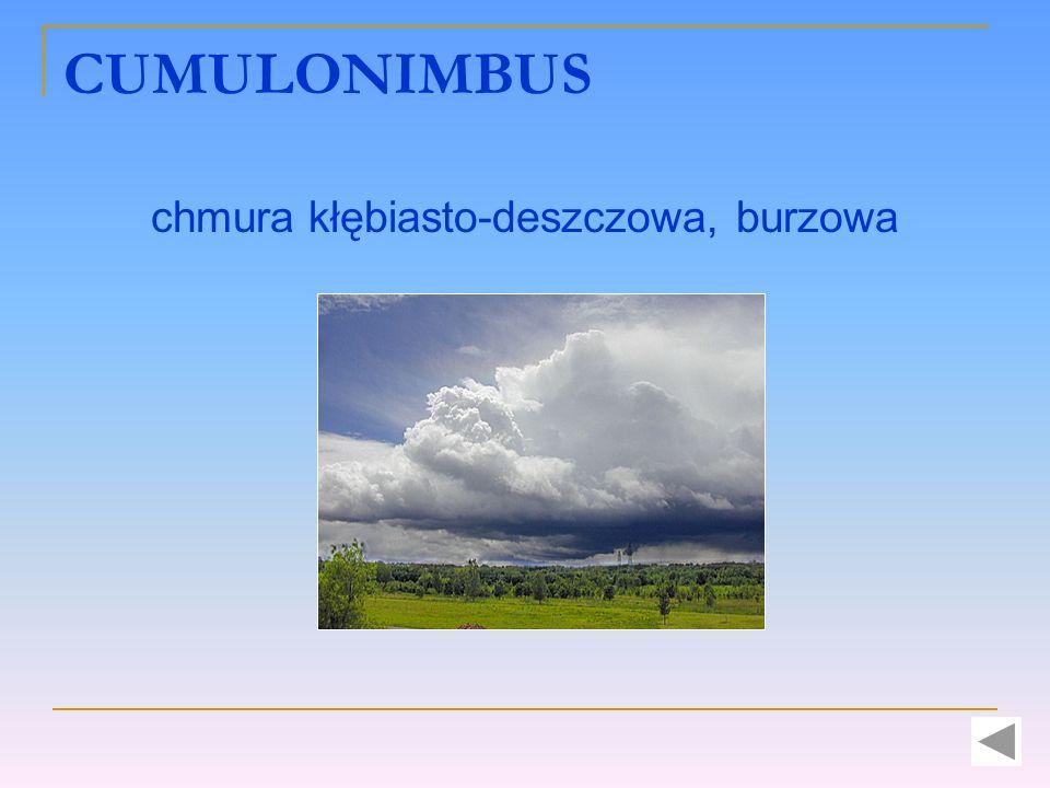 CUMULONIMBUS chmura kłębiasto-deszczowa, burzowa