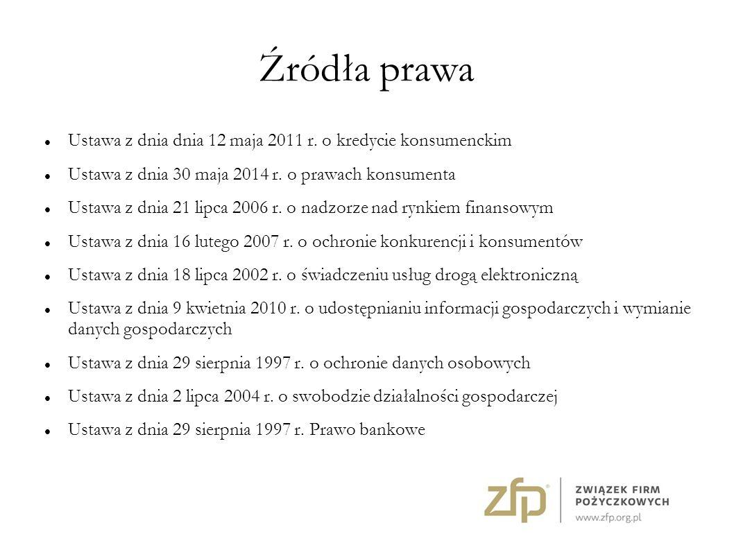 Źródła prawa Ustawa z dnia dnia 12 maja 2011 r.