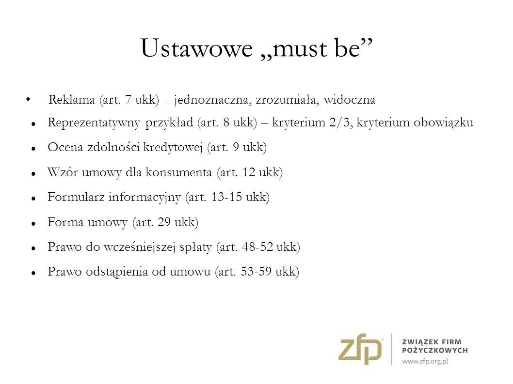 """Ustawowe """"must be Reklama (art."""