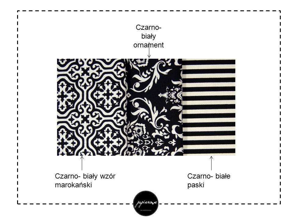 Czarno- biały wzór marokański Czarno- biały ornament Czarno- białe paski
