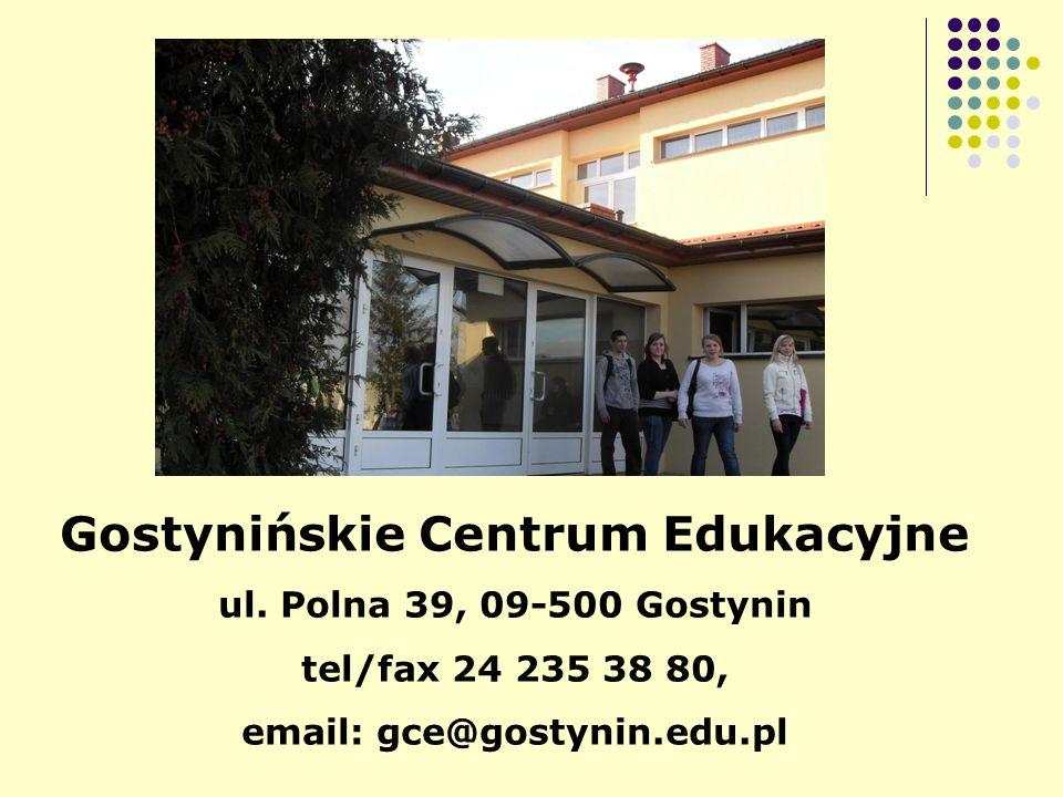 Gostynińskie Centrum Edukacyjne ul.