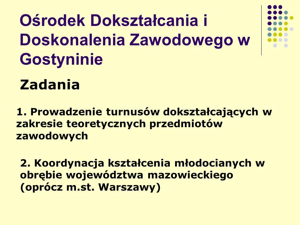 Ośrodek Dokształcania i Doskonalenia Zawodowego w Gostyninie Zadania 1.