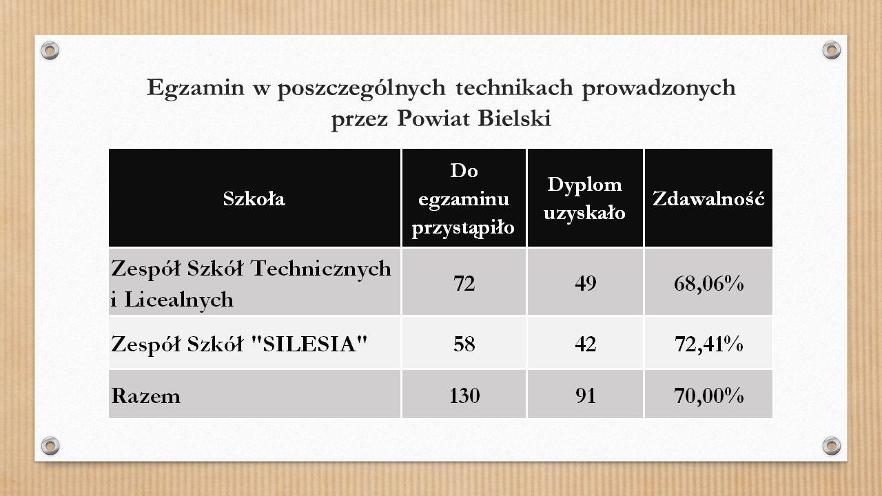 Wyniki egzaminu zawodowego w technikum w Zespole Szkół Technicznych i Licealnych