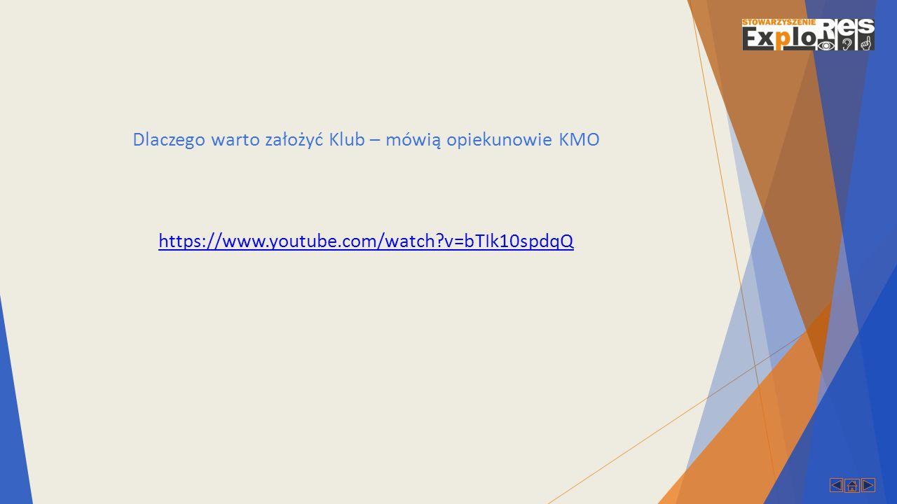 Dlaczego warto założyć Klub – mówią opiekunowie KMO https://www.youtube.com/watch?v=bTIk10spdqQ