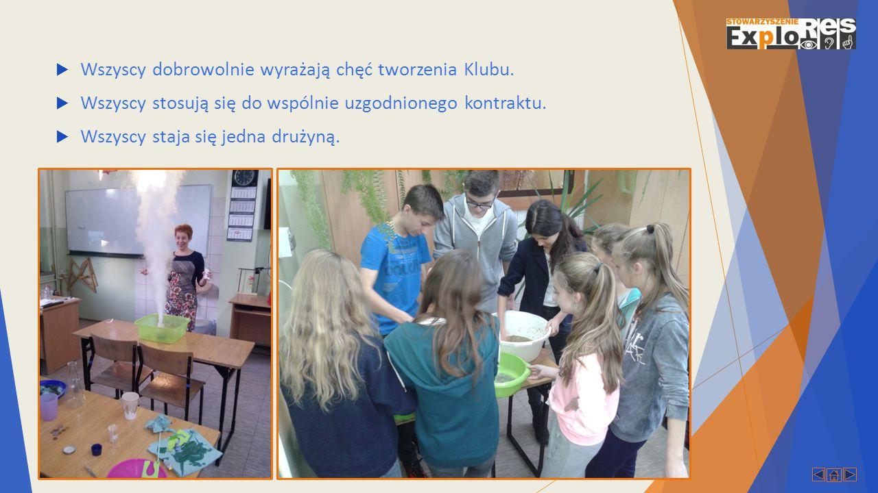  Główną wartością Klubu Młodego Odkrywcy jest możliwość uczestniczenia w większej wspólnocie.